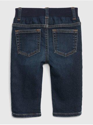 Modré klučičí džíny knit denim straight GAP