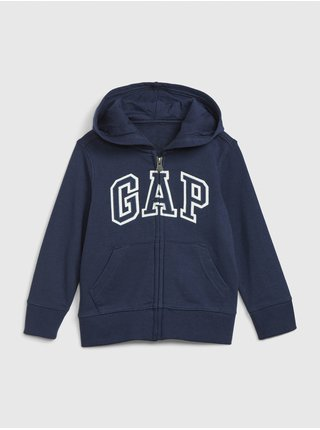Modrá klučičí mikina GAP logo hoodie