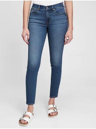Modré dámské džíny true skinny med newton GAP