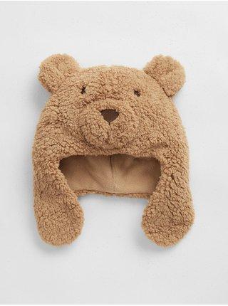 Doplňky - Dětská čepice uni bear hat Hnědá