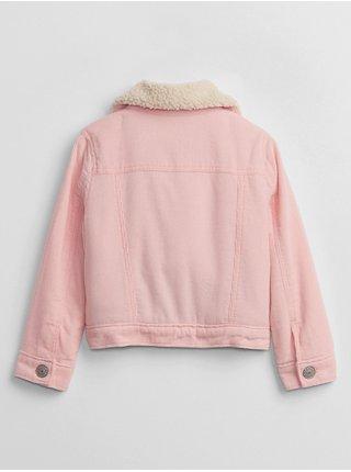 Růžová holčičí bunda jacket sherpa cord GAP