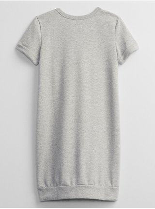 Šedé holčičí šaty teplákové šaty GAP Logo GAP