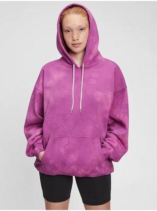 Fialová dámská mikina fleece pocket hoodie GAP