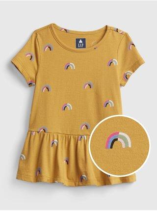 Žlutá holčičí tunika s duhou GAP