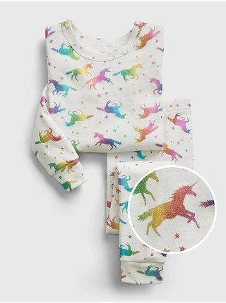 Béžové klučičí pyžamo graphic unicorn GAP
