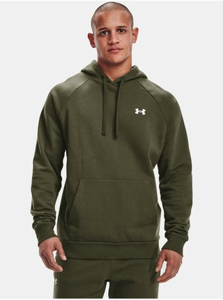 Mikina Under Armour Rival Cotton Hoodie - zelená