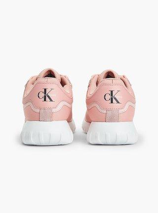 Svetloružové tenisky Calvin Klein