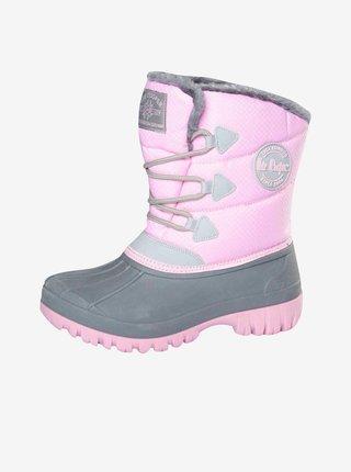 Šedo-ružové dievčenské snehule Lee Cooper