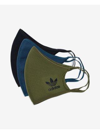 Rúška pre mužov adidas Originals - čierna, modrá, zelená