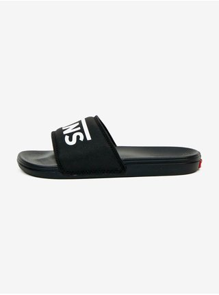 Bílo-černé unisex pantofle VANS