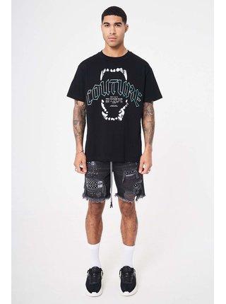 Černé pánské tričko T-SHIRT GRAPHIC TEETH COUTURE