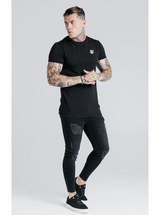 Černé pánské tričko TEE GYM HEM STRAIGHT S/S