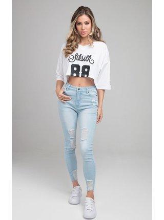 Bílé dámské crop top tričko  JERSEY CROP FOOTBALL RETRO