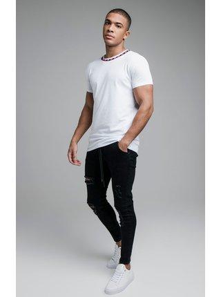 Bílé pánské tričko  TEE GYM LOGO BOUND S/S