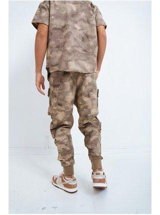 Béžové pánské maskáčové kalhoty  PANTS CARGO CAMO
