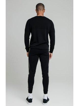 Černý pánský svetr  SWEATER NECK CREW INFINITY
