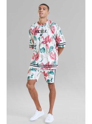Bílé pánské květované tričko  TEE ESSENTIAL TROPICS RETRO S/S
