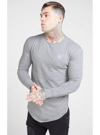 Světle šedé pánské tričkoTEE GYM CORE L/S