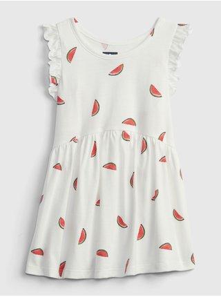 Bílý holčičí top sleevles print tunic GAP