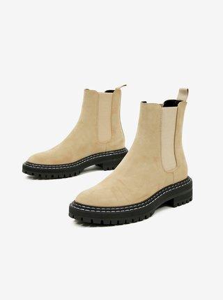 Béžové dámské chelsea boty ONLY Beth