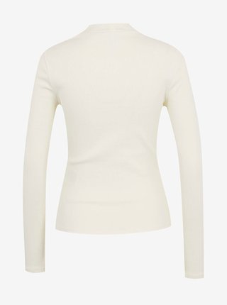 Tričká s dlhým rukávom pre ženy ONLY - krémová