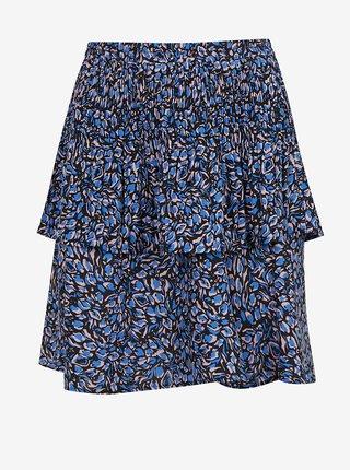 Černo-modrá vzorovaná sukně ONLY Tanny