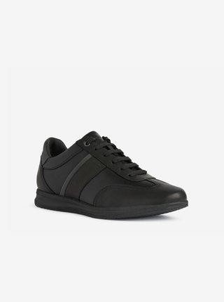 Černé pánské kožené boty Geox Avery