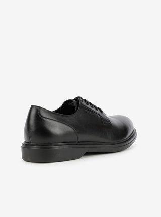 Černé pánské kožené boty Geox Ottavio