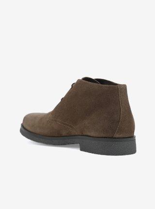 Hnědé pánské semišové boty Geox Claudio