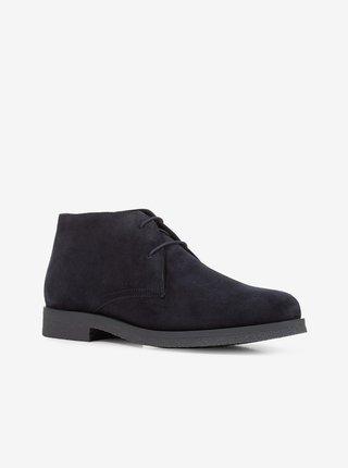 Tmavě modré pánské semišové boty Geox Claudio