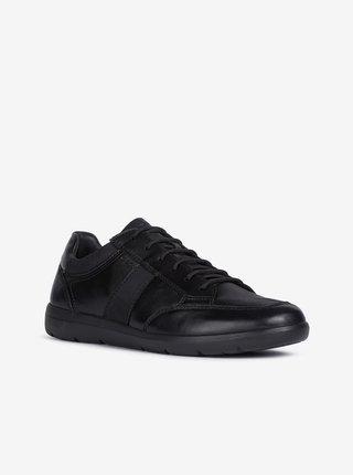 Černé pánské kožené tenisky Geox Leitan