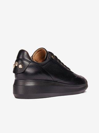 Černé dámské kožené tenisky Geox Rubidia