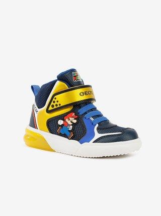 Žluto-modré klučičí boty Geox Grayjay