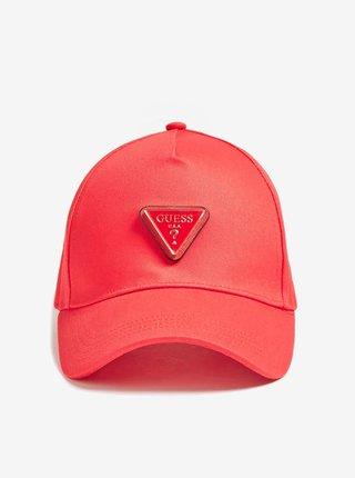 Červená kšiltovka s logem Guess