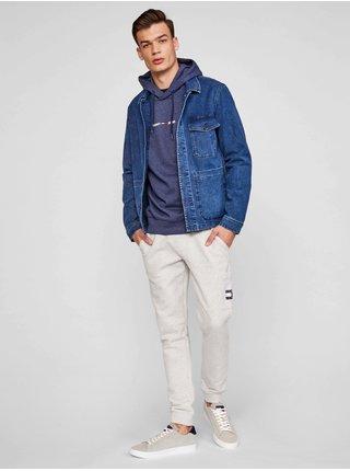 Mikiny s kapucou pre mužov Tommy Jeans - modrá