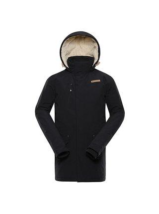 Pánský kabát s dwr úpravou ALPINE PRO GYNETH černá