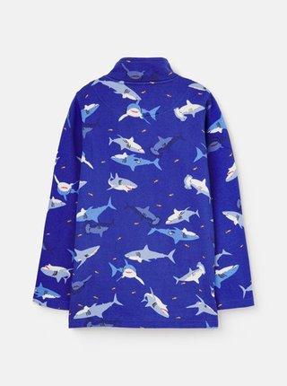Tmavě modrá klučičí mikina se žraloky Tom Joule