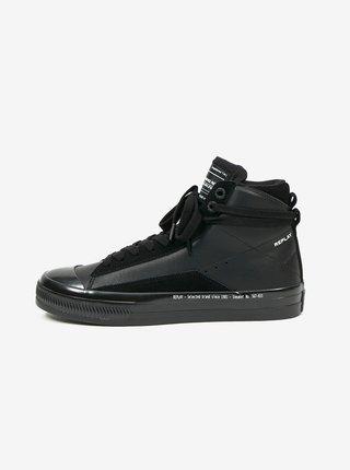 Černé pánské kotníkové boty Replay
