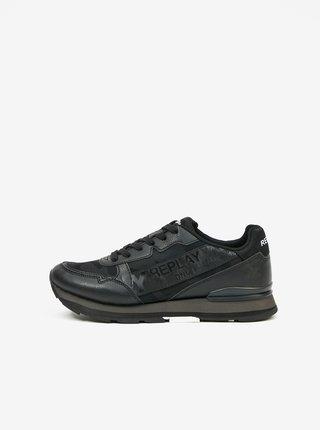 Čierne pánske topánky Replay