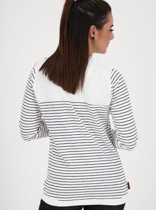 Šedo-biele dámske pruhované tričko Alife and Kickin
