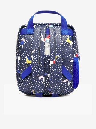 Tmavě-modrý holčičí puntíkovaný batoh Tom Joule