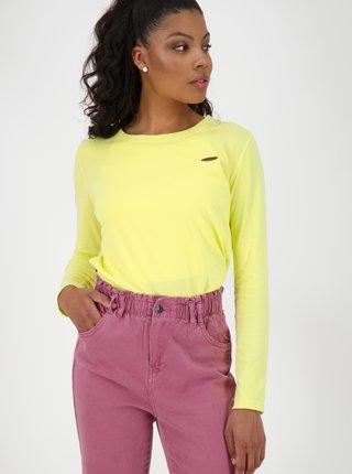 Tričká s dlhým rukávom pre ženy Alife and Kickin - žltá