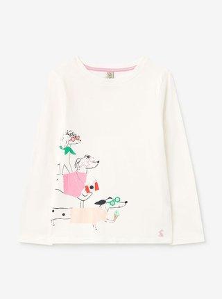 Krémové holčičí tričko s potiskem Tom Joule