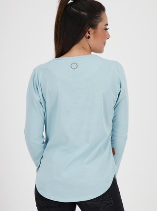 Tričká s dlhým rukávom pre ženy Alife and Kickin - svetlomodrá