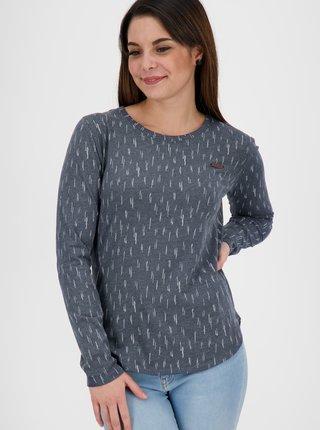 Tmavošedé dámske vzorované tričko Alife and Kickin