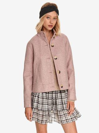 Svetloružový dámsky kabát TOP SECRET