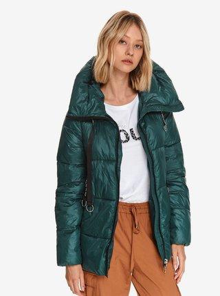 Zelená dámska prešívaná zimná bunda TOP SECRET