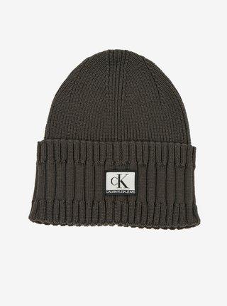 Tmavě šedá pánská čepice Calvin Klein