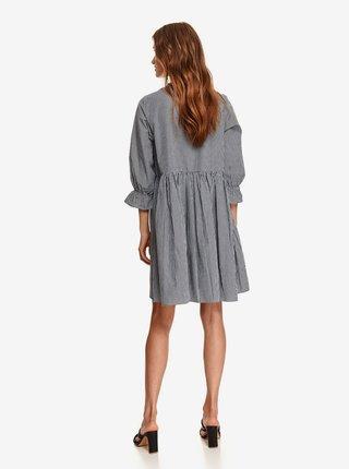 Bílo-černé dámské kostkované šaty TOP SECRET