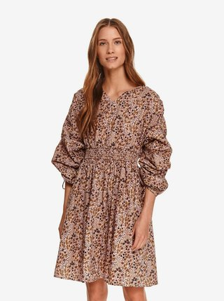 Staroružové dámske kvetované šaty TOP SECRET